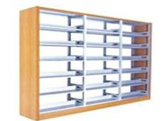 钢制木护板书架RY-SJ004