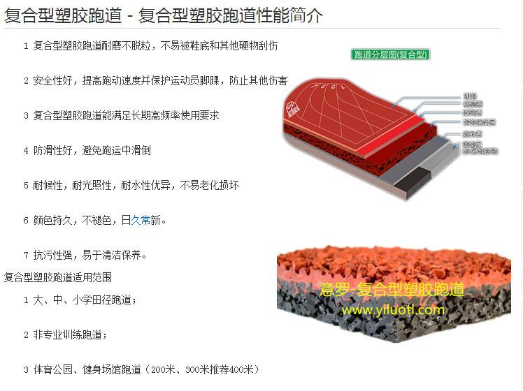 復合型塑膠跑道性能簡介