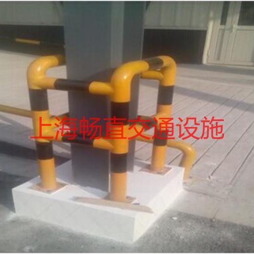 车间工字钢立柱保护 柱子围栏 上海防撞围栏杆 护栏杆 现场施工
