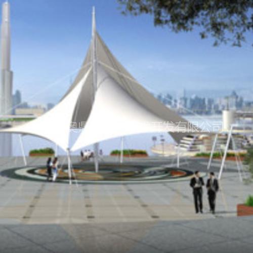 清湖车棚膜结构|200平米膜结构车棚|张拉式膜结构|深圳奥鼎膜结构公司