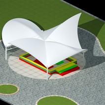 供应景观膜结构|600平方公园膜结构|张拉式膜结构厂家|奥鼎膜结构承接全国业务