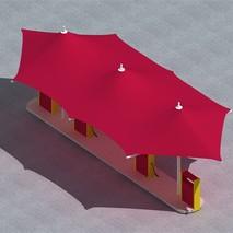 供应景观膜结构|300平米公园膜结构|张拉式膜结构厂家|奥鼎膜结构工程承接