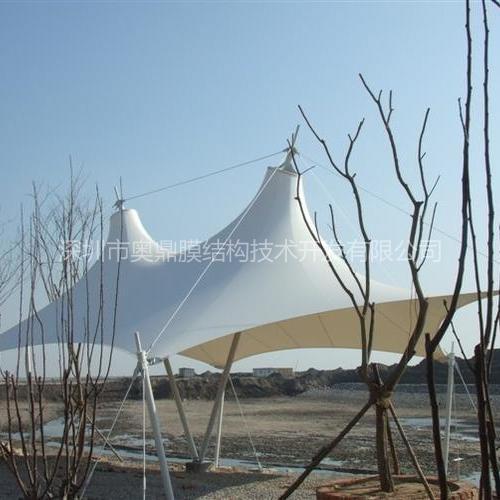 玉林江南公园广场景观膜结构 娱乐休闲膜结构 奥鼎膜结构设计 张拉式膜结构