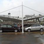双开拉杆式膜结构停车棚