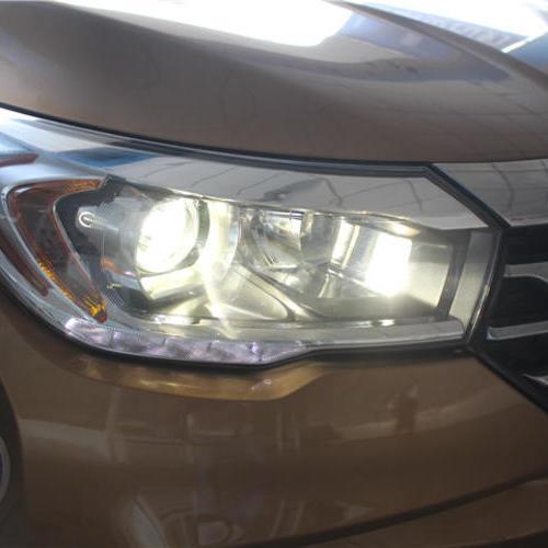 上海传祺GS4改氙气车灯 上海蓝精灵改灯q5透镜欧司朗氙气灯