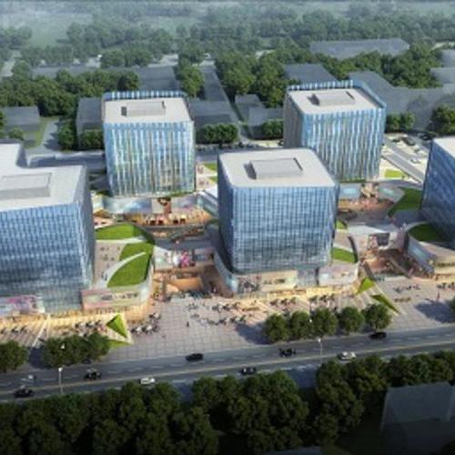 北大新媒体产业园项目(1.5万平蒙砂钢化U玻)