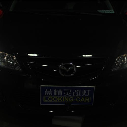 株洲经典马自达6车灯改装海拉5双光透镜欧司朗氙气大灯 长沙蓝精灵改灯