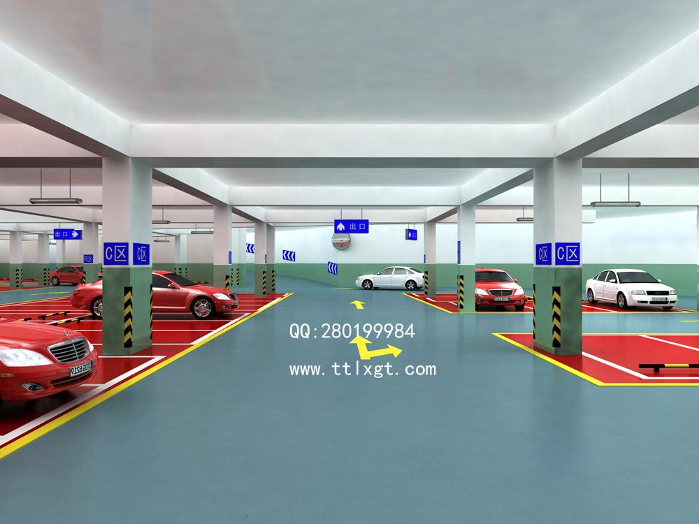 停车场效果图制作