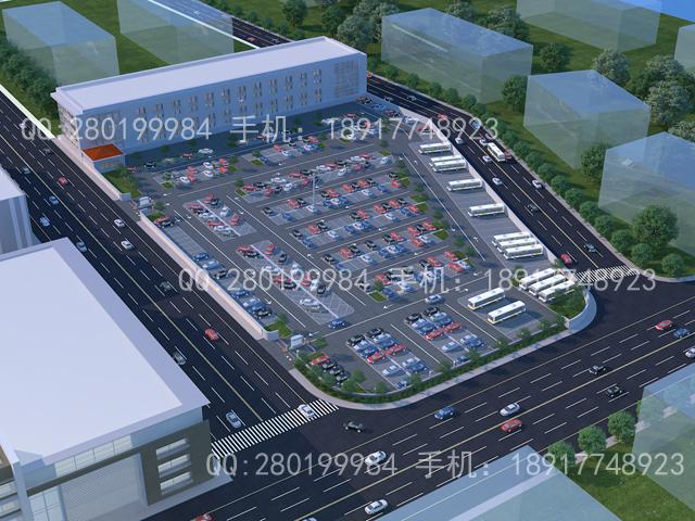 大型停车场效果图制作