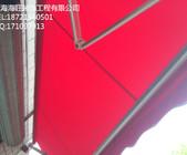 上海市东方幼儿园曲臂式遮阳蓬,学校设施雨棚安装