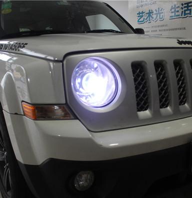 jeep自由客改车灯上海蓝精灵改灯q5透镜岩崎LBS氙气大灯