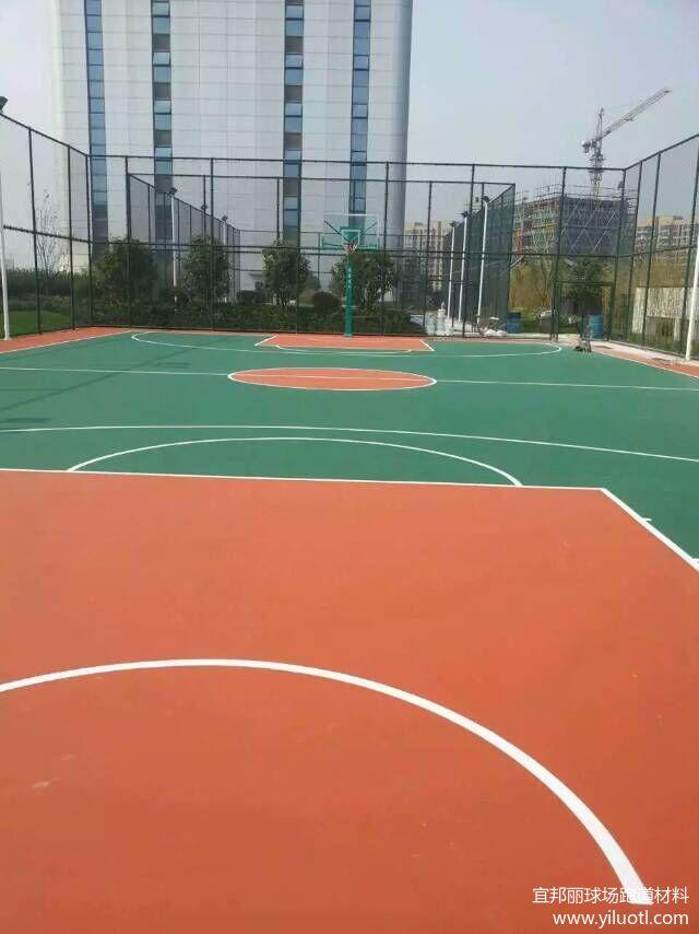 弹性丙烯酸篮球场