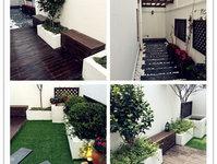 【屋顶花园】木玻璃顶,莲花池,休闲区,居家型美丽屋顶花园