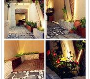 【下沉式庭院】化繁为简,柔美的光源搭配,建发珑庭下沉式庭院
