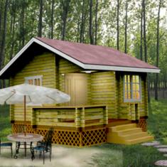 木结构 酒店式标间 22㎡ 小木屋