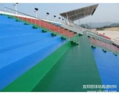 浙江省金华市硬地丙烯酸面层-使用在看台项目工程效果
