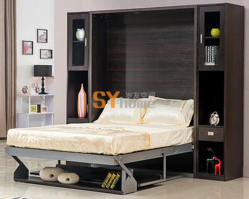 多功能创意隐形床翻板床壁床墨菲床创意家具板床KA6