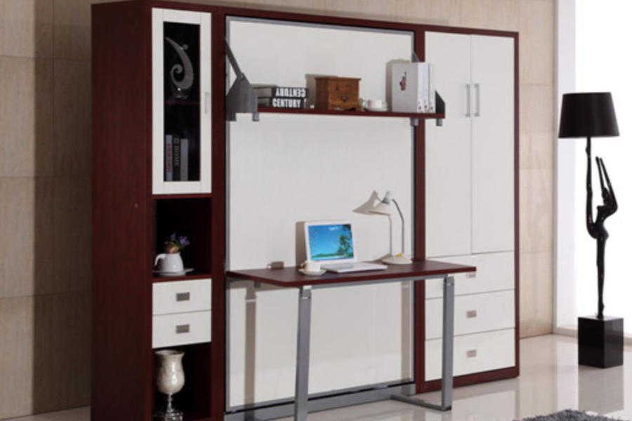 多功能折疊壁柜翻床小戶型電腦桌辦公桌組合隱形床KA7
