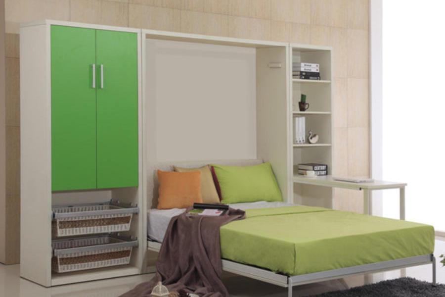 隐形床壁床墨菲床折叠床正翻壁柜床多功能