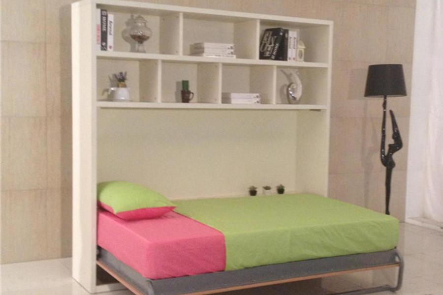 壁床壁柜床節約空間壁床多功能床折疊床翻板床側翻帶頂柜