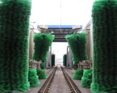 Train car washing machine
