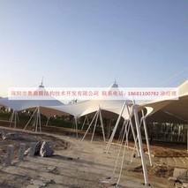 张拉式膜结构|新疆莎车公园膜结构工程|奥鼎膜结构技术开发