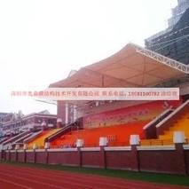 贵阳高级学校体育看台膜结构工程已完工—深圳市奥鼎膜结构技术开发