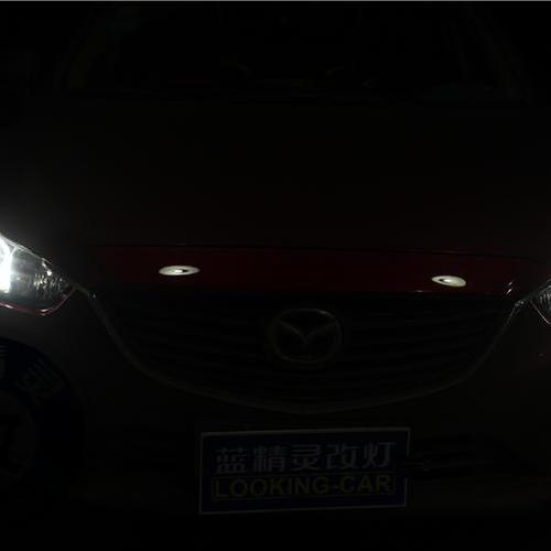 马自达阿特兹升级全新进口海拉5双光透镜飞利浦XV顶级氙灯欧司朗安定LED光导天使眼