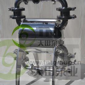 上海天田-NDP型卫生级气动隔膜泵 固液混合火锅底料输送 酒糟输送好帮手