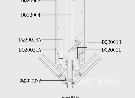 DQ200單元式幕墻結構圖