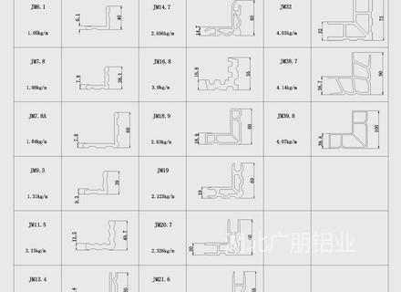 MQ65A明框幕墻型材圖集