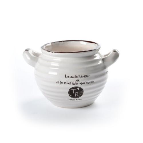 陶瓷花盆 日式复古仿搪瓷盆器