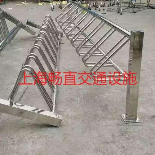 圆笼自行车停车架 自行车架地锁 助动车卡位架 自行车停放架