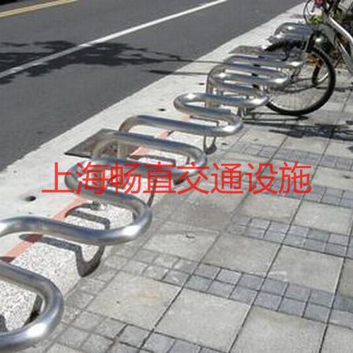 上海自行车卡位地锁 上海自行车停放架 不锈钢自行车摆放架