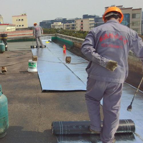 上海万溯化学防水施工中