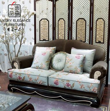 香奢一品高端定制家具新中式沙发别墅客厅大户型双人沙发XZS-057