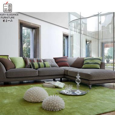 香奢一品高端定制家具美式沙发别墅客厅高档布艺转角沙发AD-129