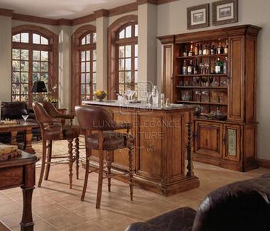 香奢一品定制家具美式乡村吧台实木简约酒吧台家用吧台桌BLD34