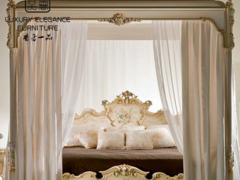 香奢一品高端定制家具意大利古典双人床实木雕刻床2米YDLGD-023