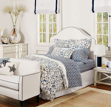 香奢一品定制家具 卧室实木地中海田园布艺白色 双人床1.5米WS-24