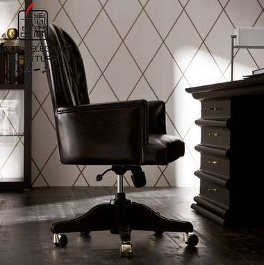 香奢一品高端家具定制简约法式新古典真皮软包转椅FSXGD-068