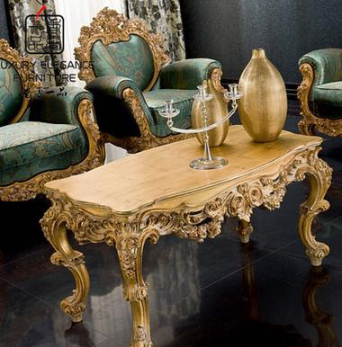 香奢一品高端定制家具意大利古典茶几实木长方形茶桌YDLGD-035