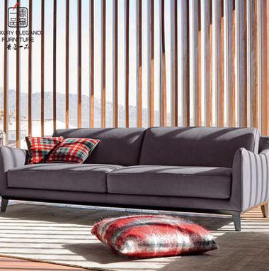 香奢一品高端定制家具美式沙发别墅客厅高档布艺 三人沙发AD-128