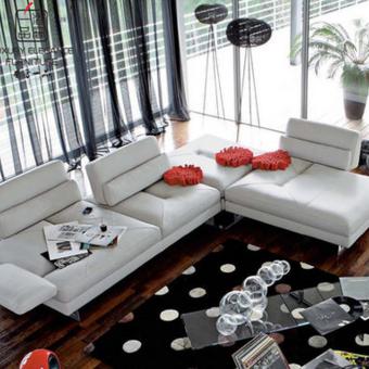 香奢一品高端定制家具美式转角沙发AD-239