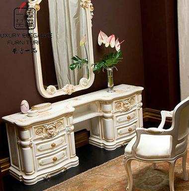 香奢一品高端定制家具意大利古典妆台卧室实木梳妆桌YDLGD-018