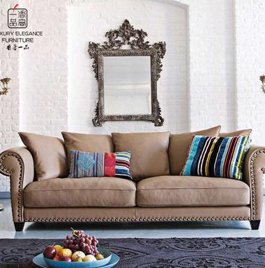 香奢一品高端定制家具美式沙发大户型客厅高档布艺三人沙发AD-104