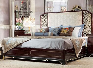 香奢一品高端定制家具新中式双人床卧室实木双人床1.8米XZS-127