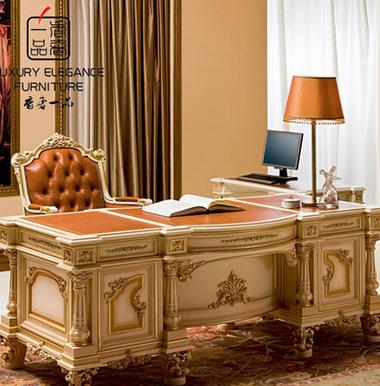 香奢一品高端定制家具意大利古典书桌书房新古典书桌YDLGD-045