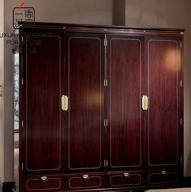 香奢一品高端家具定制新中式四门衣柜XZS-107