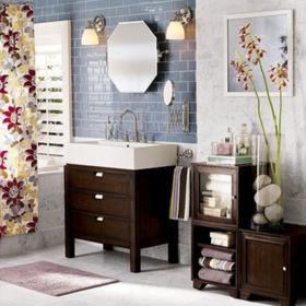 香奢一品定制家具美式浴室家具实木卫生间柜台盆柜浴室柜JMH8-049